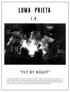 fly by night Loma Prieta